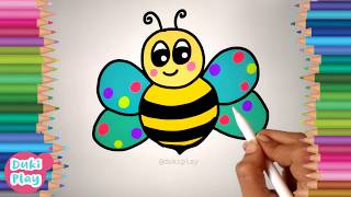 Learn to Draw Bee| Fill Colors | learn the shapes