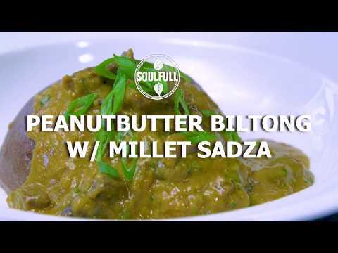 PEANUT BUTTER BILTONG & MILLET SADZA