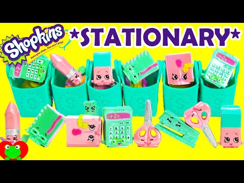 Shopkins SEASON 3 Unboxing 6 12 Packs with POLISHED PEARL Stationary