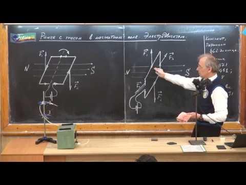 Урок 178 (осн). Рамка с током в магнитном поле. Электродвигатель