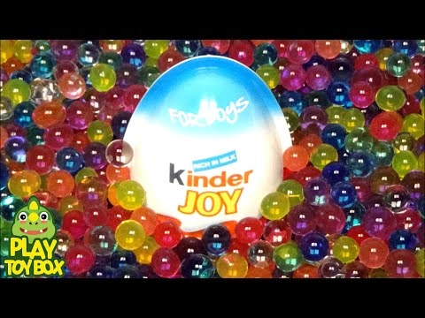 Surprise Eggs Toys kinder joy Learn Colors Water ball Stress Balls Disney Orbeez Cute Dolls