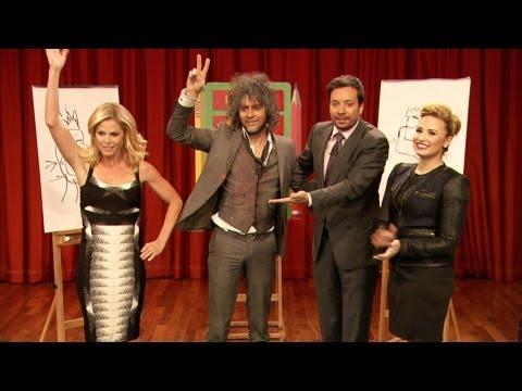 Pictionary with Demi Lovato, Julie Bowen, Wayne Coyne & Jimmy Fallon, Part 2