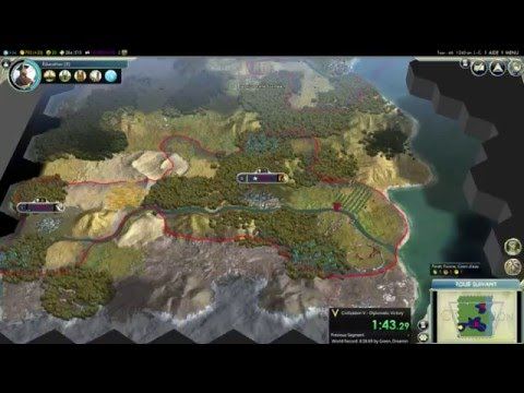 Speedrun Civilization 5 : Diplomatic Victory (7m 33s)