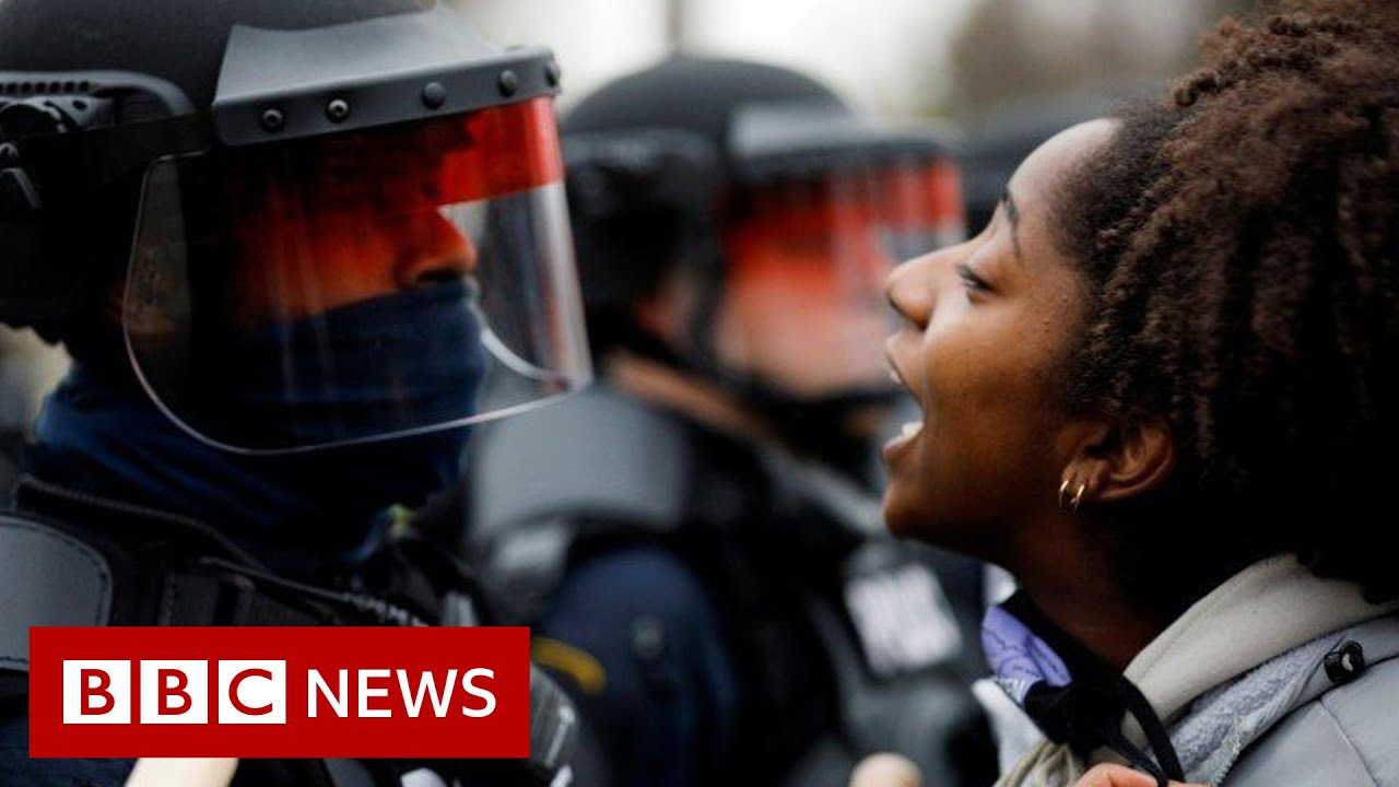 Tear gas fired at protesters after police shoot black man near Minneapolis – BBC NEWS