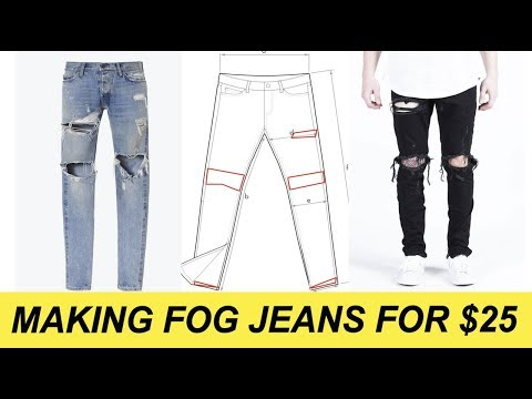 RIPPED DENIM MEN STREETWEAR **D.I.Y. AFFORDABLE DISTRESSED** + How To Style