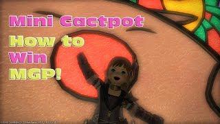 FF14 - Gold Saucer - Mini Cactpot - How to Win MGP!