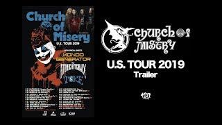 Church of Misery U.S. TOUR 2019 Trailer
