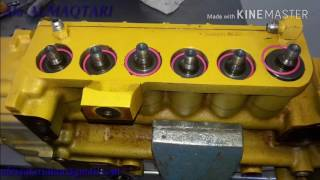 Dismantled and installation and tset of injection pump diesel CATERPILLAR