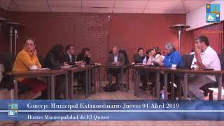 Concejo Municipal extraordinario Jueves 04 Abril 2019 - El Quisco