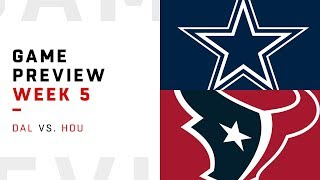 Dallas Cowboys vs. Houston Texans | Week 5 Game Preview | NFL Playbook