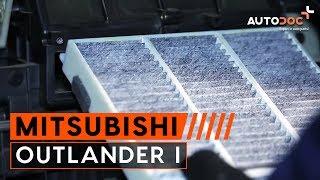 Kuinka vaihtaa Sisäilmansuodatin MITSUBISHI OUTLANDER I (CU_W) - ilmaiseksi video verkossa