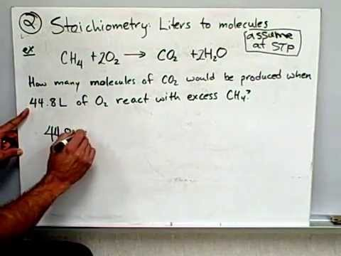 Stoichiometry 3: Molecules to liters, grams to liters,liters to molecules