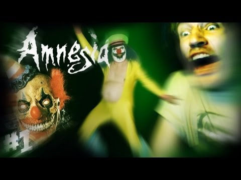 FRICKING CLOWNS EVERYWHERE! - Amnesia: Custom Story - Part 1 - Laughing in the darkness