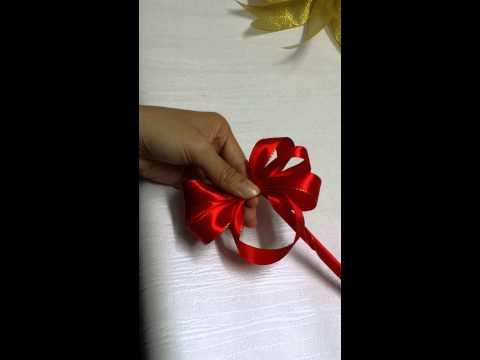Hướng dẫn cách làm nơ giỏ quà