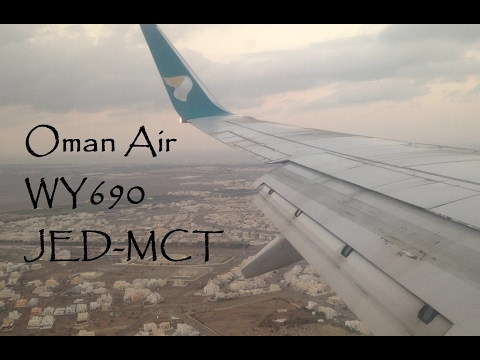 Oman Air | Jeddah to Muscat | Boeing 737-800 (WY690) | A40-BJ