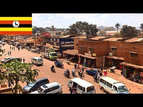 Uganda Jinja town - city tour, street scenery, daily life, impressions