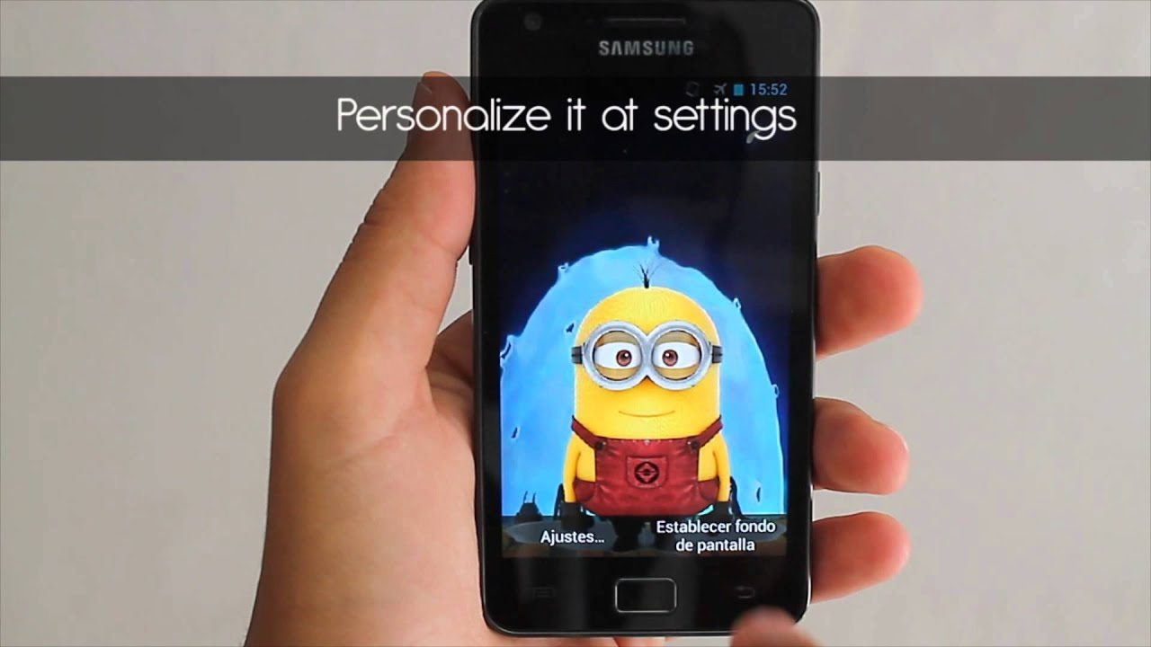 Minion Camera App : Minion live wallpaper app youtube