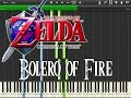 Download Zelda Ocarina Of Time - Bolero Of Fire (Synthesia) MP3 song and Music Video