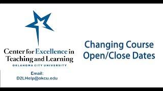 Update Course Open Close Dates