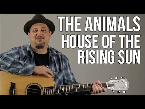 House Of The Rising Sun Guitar Lesson - The Animals - Easy Songs For Acoustic Guitar - Tutorial