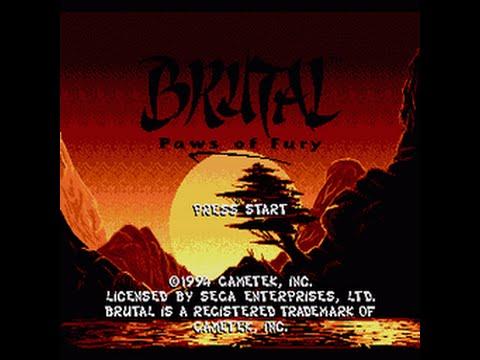 Mega-CD Longplay [093] Brutal - Paws of Fury
