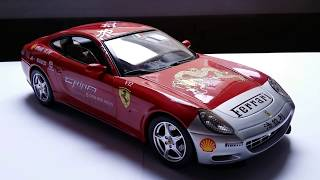 Reviewing the 1/18 Ferrari 612 Scaglietti Tour China 15.000 Red Miles by Hot Wheels Elite