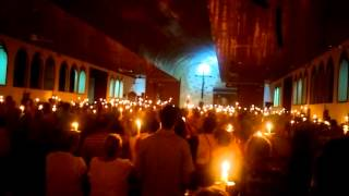Exsultet at the 2016 Easter Vigil in Quepos, Puntarenas, Costa Rica