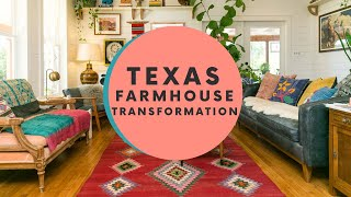 Tour a Transformed Texas Farmhouse Filled With Colorful Textiles
