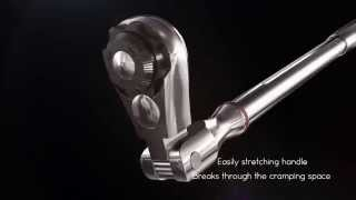 Nako Tools extendable flex ratchet w/ locking ratchet mechanism