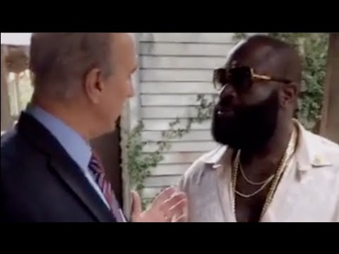 Rick Ross talking business with CEO of Checkers