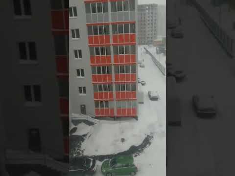 Snowfall in Kazan(Russia)