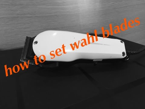 HOW TO : setting blades on the WAHL supertapers