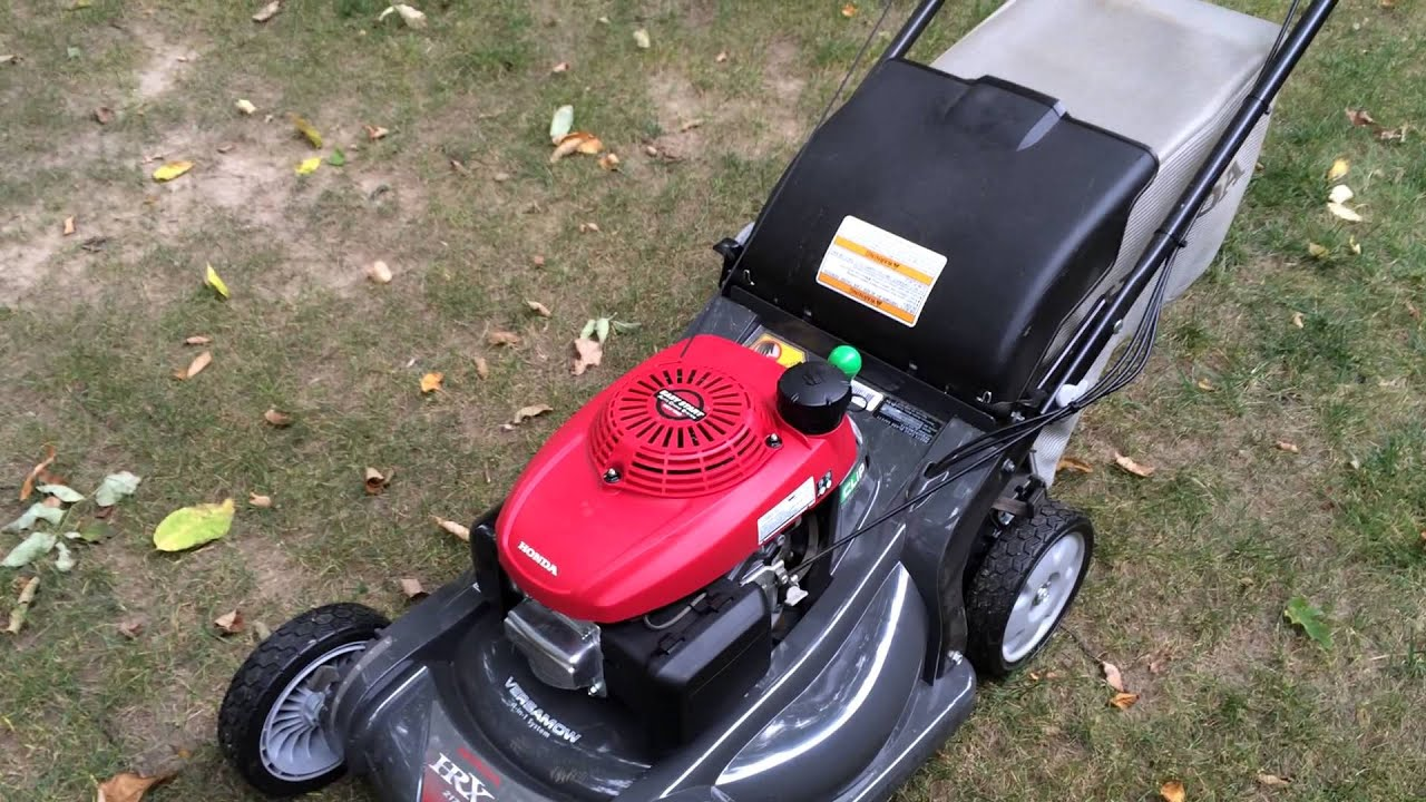 Honda HRX 217 mower review - YouTube