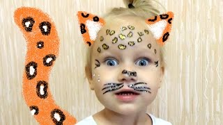 Face painting for kids Наклейки детские ЛЕОПАРД !
