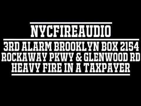 NYCFireAudio - FDNY Brooklyn 3rd Alarm Box 2154 Audio - Heavy Fire in A Store - 12/9/18