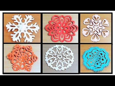6 easy paper snowflake designs/DIY, step by step (COCO ART&CRAFT)