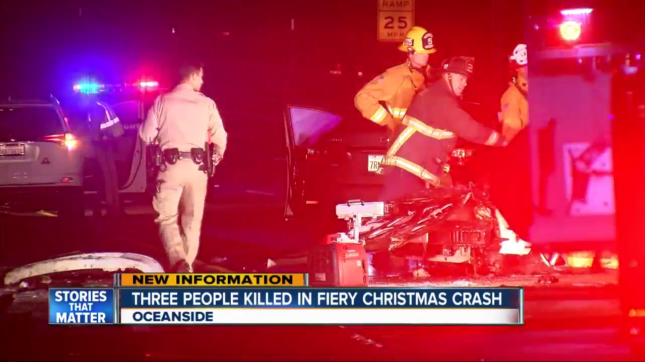 Three people killed in fiery Christmas Day crash in ...