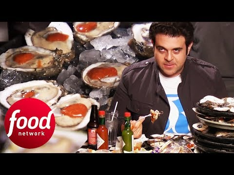 Can Adam Eat 180 Oysters In 60 Minutes?! | Man V Food