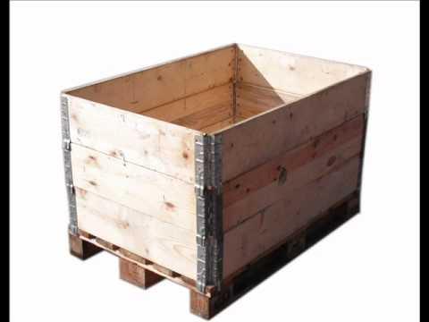 Cajas de madera pegables para palet 120x80 cm youtube - Que hacer con un palet ...