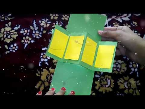 DIY handmade twist and pop up card idea for Diwali and scrapbook by Tanishka Tanwar