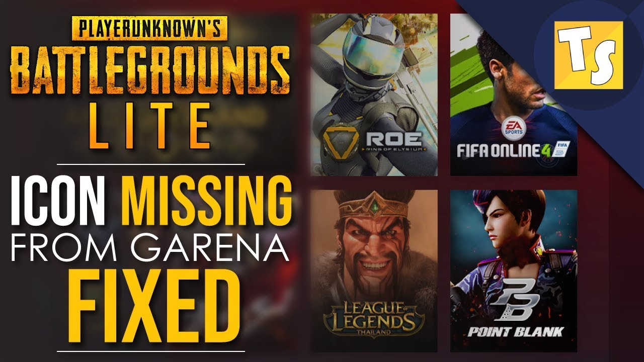 How to Fix Missing PUBG PC Lite Icon from Garena 🔥🔥