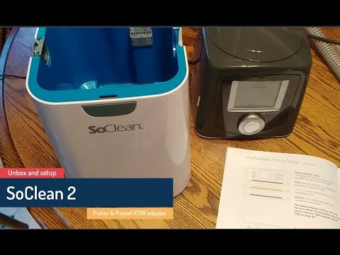 SoClean 2 - unboxing, setup, and first cleaning of my Fisher & Paykel ICON CPAP machine