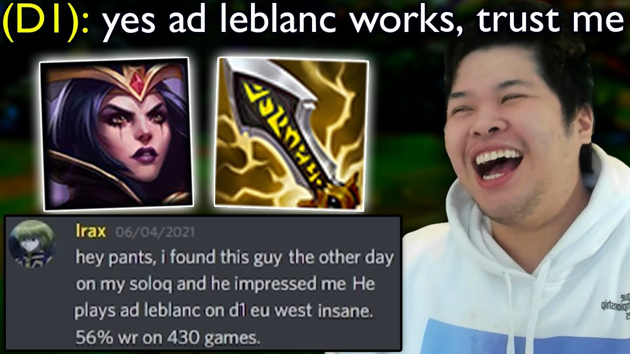 This guy smurfs every game with AD Leblanc in Diamond 1 EUW.. so I tried his build
