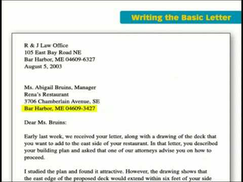 The Key Forms of Business Writing Basic Letter - YouTube