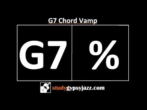 Gypsy Jazz Backing Track / Play Along - G7 Chord Vamp