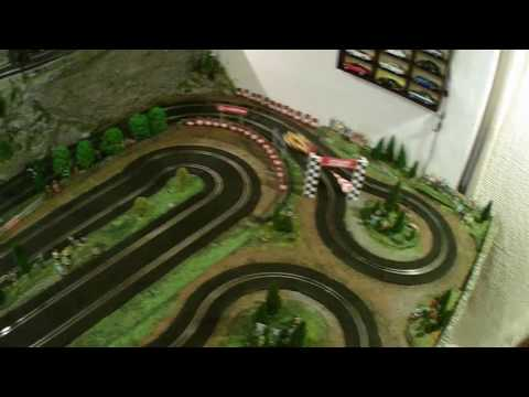 Fly Porsche slot car on Ninco track