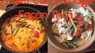 [Idée Plat] Poulet curry rouge facon thaï