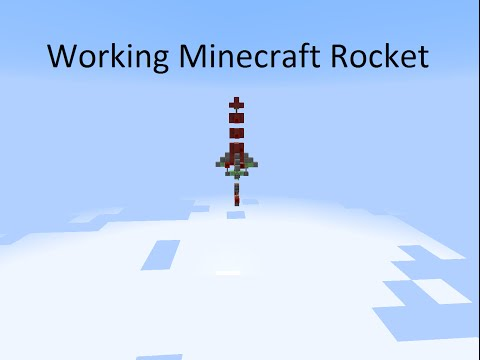 How To Make a Working Minecraft Rocket (No Command Blocks)
