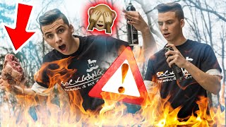 COOKING WITH A FLAMETHROWER!!!