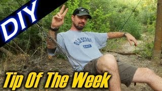 "Diy Paracord Net / Hammock Chair - ""tip Of The Week"" E24"